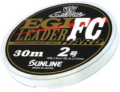 SUNLINE. SaltiMate EGI Leader FC HARD 30m, Fluorocabon Leader.