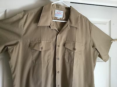 Official Navy Uniform Shirt Vintage Creighton XXL Double Pocket 18-18.5 Poly/Cot
