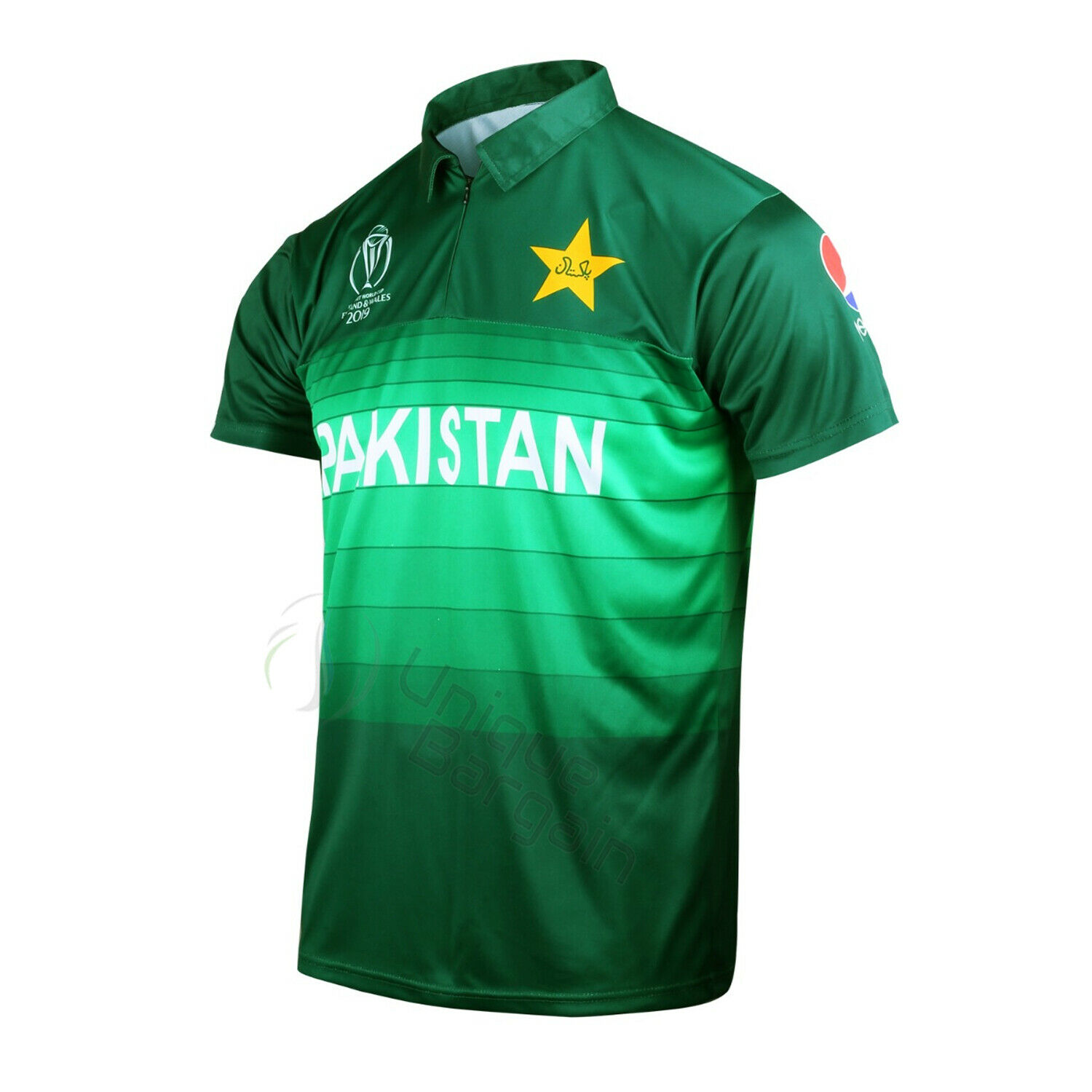 PAKISTAN CRICKET TEAM SUPPORTER JERSEY SHIRT 2019 ICC CRICKET WORLD CUP Size Med