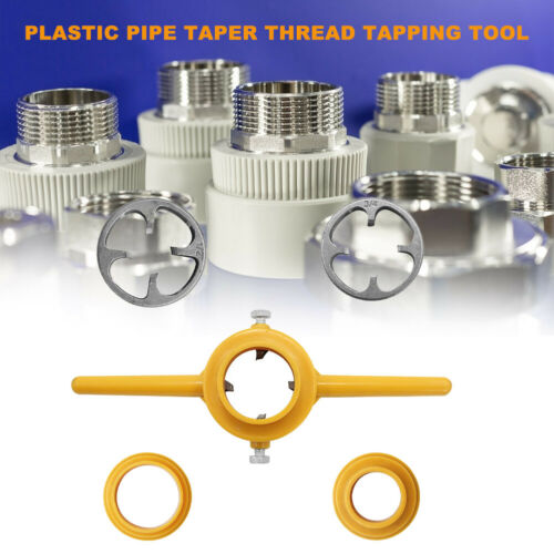 PVC Thread Maker Hand Tools Kit NPT Die Set Pipe Threader for Pumps Pipes