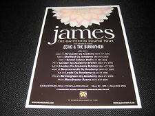 James Gathering Sound Tour Flyer Echo And The Bunnymen Gig Memorabilia Concert