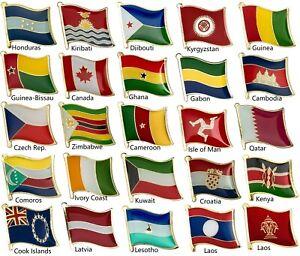 Acheter Pas Cher Drapeau Badge Pays Drapeau Pin Drapeau épinglettes Emblème Medaltabard Pour Sac À Dos Icône-afficher Le Titre D'origine ProcéDéS De Teinture Minutieux