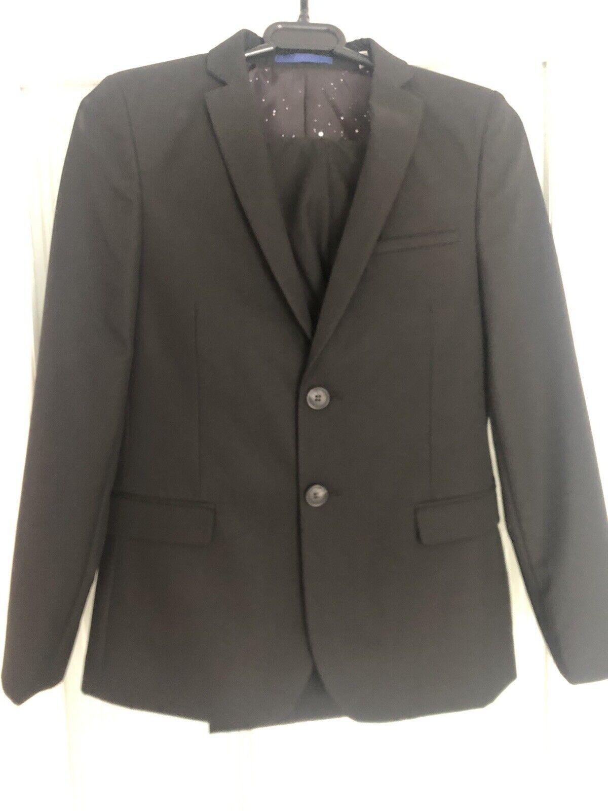 Boys Black M&S Suit Age 11-12