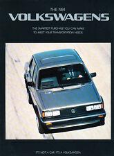 1984 Vw Volkswagen Sales Brochure Catalog Vanagon Quantum Cabriolet Scirocco