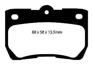 DP21586 EBC Greenstuff Pastillas de Freno Trasero para Lexus GS300