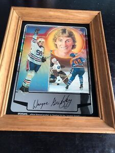 Vintage-Wayne-Gretzky-NHL-Mirror-Picture-Edmonton-Oilers-Early-Mirror-Art-Print