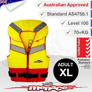 ADULT-XL-Life-Jacket-Foam-Type-1-New-Lifejacket-Vest-PFD1-Extra-Large-Level-L100