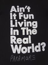 PARAMORE - JUMBO AIN'T IT FUN IN THE REAL WORLD - SMALL BLACK T-SHIRT- G1121
