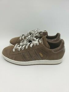 adidas-Campus-Low-Chocolate-Brown-Suede-Leather-White-Men-039-s-Size-10