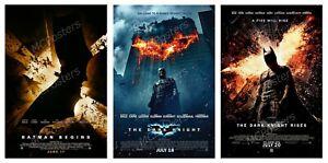 """Batman Begins The Dark Knight The Dark Knight Rises Trilogy Poster 36x24 40x27/"""""""