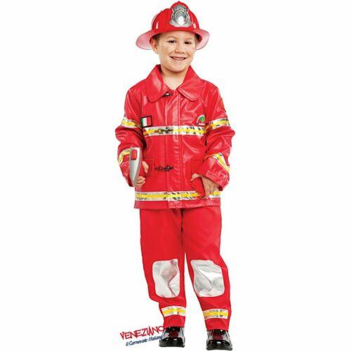 COSTUME CARNEVALE da VIGILE DEL FUOCO POMPIERE RAGAZZO 50503 vestito per ragazzo
