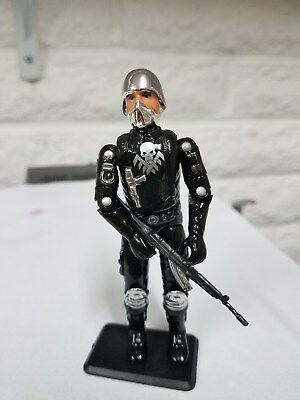 SNAKE ARMOR X RED LASER GI JOE CUSTOM BLACK MAJOR GOLD CHROME S.N.A.K.E