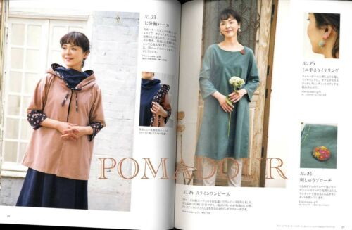 Adult/'s Handsewn Easy Dresses Japanese Craft Book