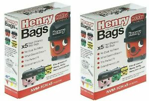 10 x Replacement Dust Bag For Numatic Henry Xtra HVX200-22 Type:NVM-1CH