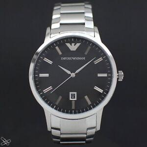 Emporio-Armani-Reloj-de-Hombre-AR2457-Color-Plata-Acero-Inoxidable-Negro