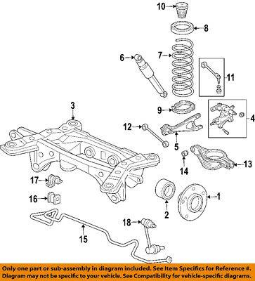 New Genuine Honda Arm Assembly Left Rear Trailing Driver Side 52372S3VA00 OEM