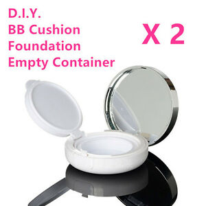 Details About Two Diy Air Cushion Bb Cc Cream Foundation Empty Container Box Case Diy Kit