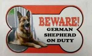 Berger Allemand Beware Of The Dog Signe 12 Cm X 21 Cm Autres Pains Disponible.-afficher Le Titre D'origine Apparence EsthéTique