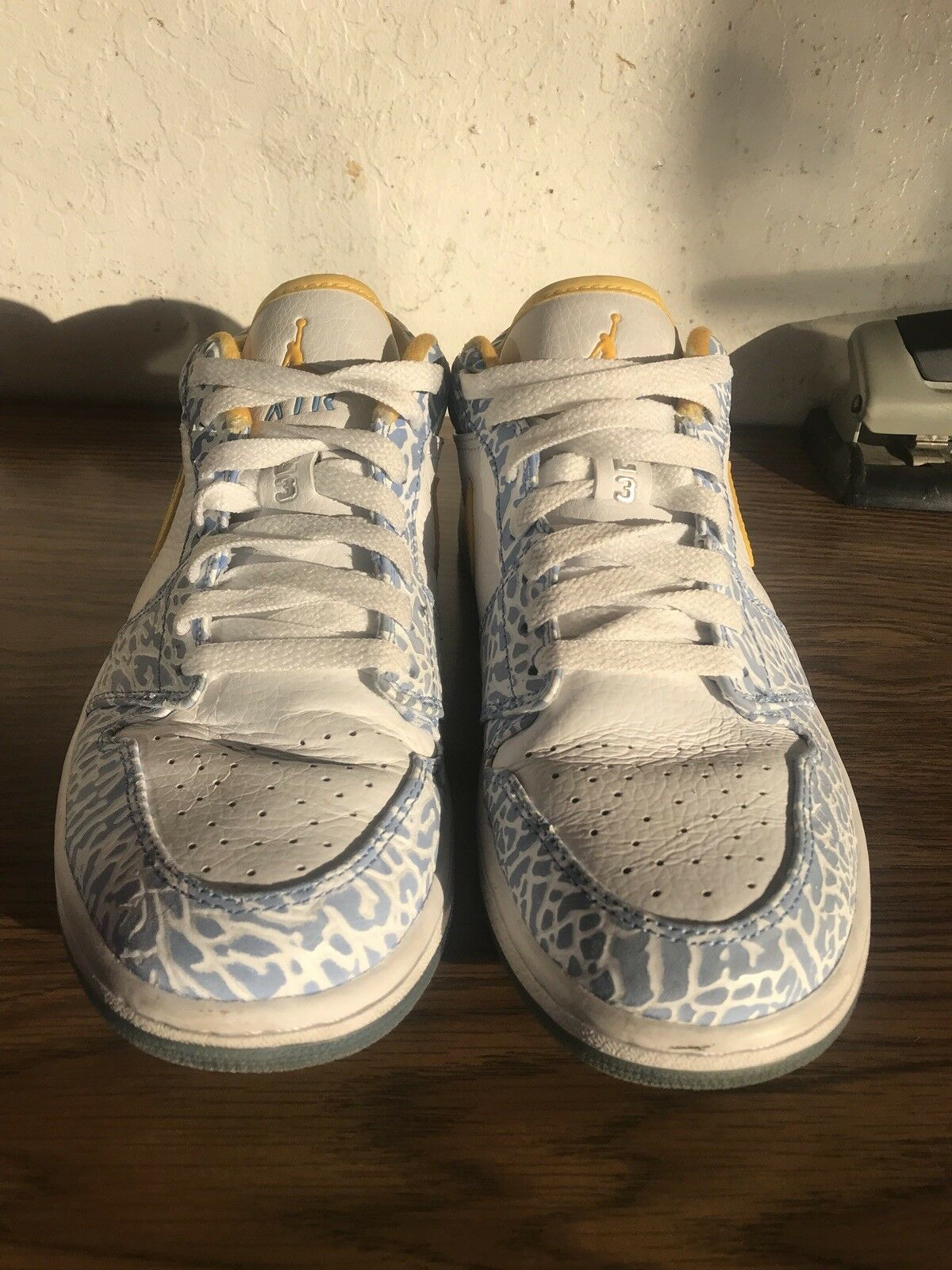 air jordan 1 retro low west side side west Blanc yellow Bleu cement Taille 8 76043f