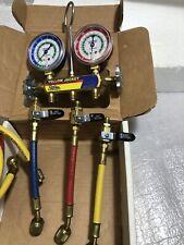 New Listingyellow Jacket 41215 2 Valve Mechanical Manifold R12 R22 R502 Gauge Set