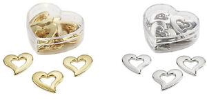 12 St Herz Herzen Silber Gold Hochzeit Tischdeko Scrapbooking