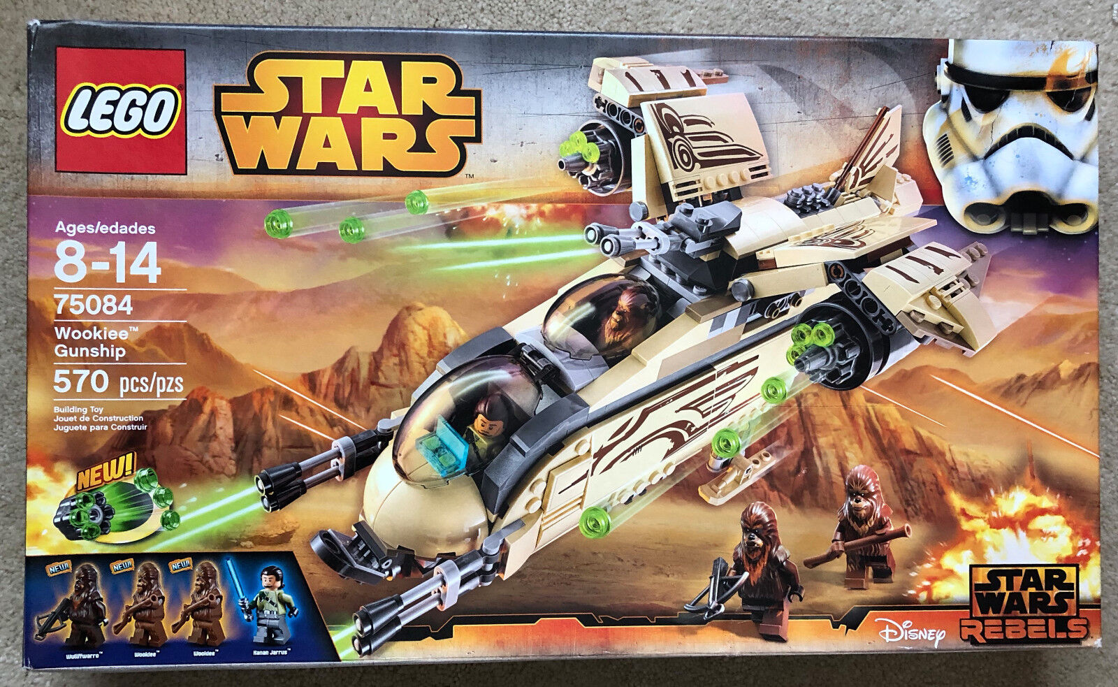 LEGO 75084 Star Wars Wookie Gunship Set Rebels Kanan Jarrus NEW Sealed