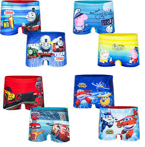 Peppa-Pig-Thomas-amp-friends-Disney-Cars-oder-Super-Wings-Badeboxer-Badehose