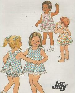 Toddler-Jiffy-Dress-amp-Bloomers-Sewing-Pattern-Size-4-Simplicity-9513