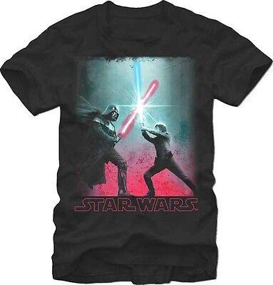 New Star Wars Lightsaber Battle Darth Vader Luke Skywalker Classic Retro T-Shirt