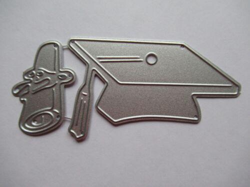Nueva Tapa de graduación Mortero Tablero /& diploma desplazamiento Metal Craft Die-Libre P/&P
