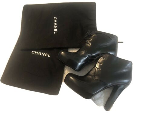 Beautiful chanel platform Boots