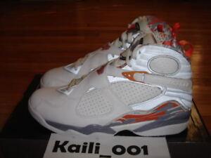 best website 6c30a e452b Image is loading Nike-Air-Jordan-8-Retro-VIII-Orange-Blaze-