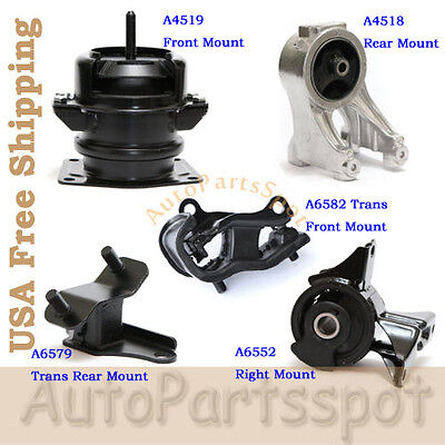 4PCS Set For 2003-2004 Honda Pilot EX 3.5L AWD Engine Motor /& Trans Mount