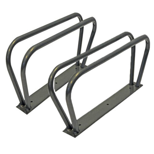 TWO BICYCLE BIKE WALL FLOOR MOUNT MOUNTED STAND RACK HOLDER STORAGE SHED NEW S13