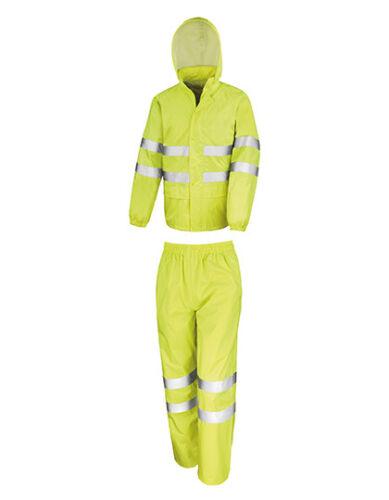 Result High Viz Jacke Hose SET Waterproof Suit wasserdich XS-4XL NEU