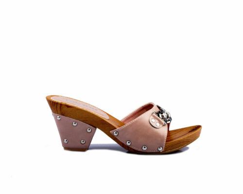 Lucky shoes Damen Pantolette Clogs Sandalette altrosa alle Größen 36-41