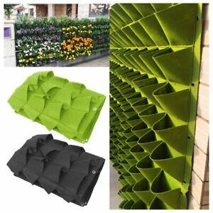 72 Pocket Planting Bag Hanging Wall Vertical Planter Hanging Flower Herb Garden
