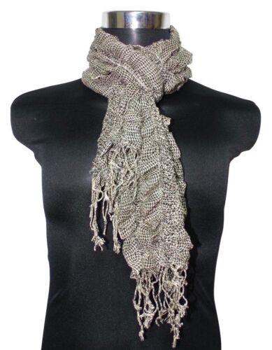 Damenschal Schal Halstuch Klassik Kariert Karo leicht elastisch Knitter-Optik