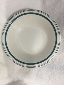 Ralph-Lauren-Green-Cafe-Stripe-Coupe-Soup-Cereal-Bowl-8-034-New-but-Has-Crazing