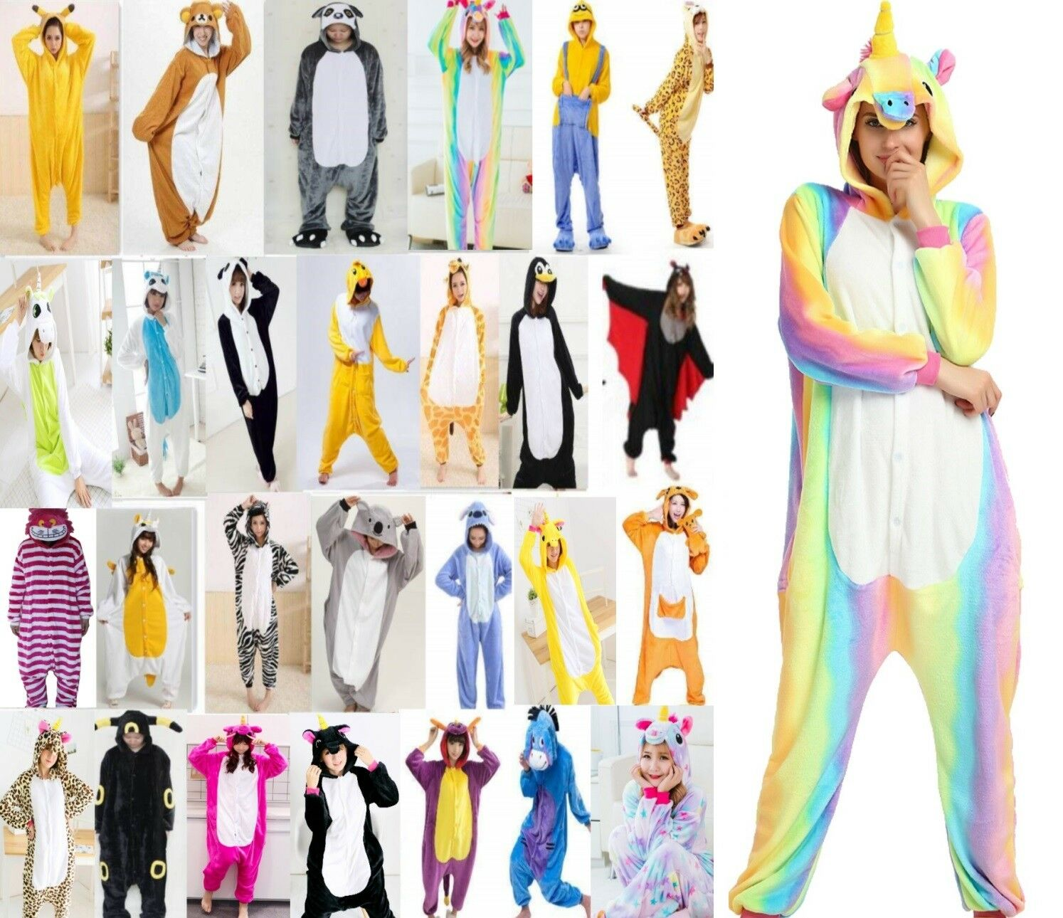 Pigiama kigurumi intero tuta carnevale feste animali zoo costume party Christmas 3