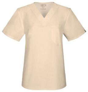Cherokee Workwear Scrubs Short Sleeve Top 4741 BLKW Black Free Shipping