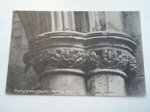 MELROSE-ABBEY-Curly-Green-Capitol-Vintage-Postcard-Franked-Stamped-1909-B2283