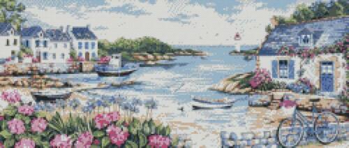 By the Sea Cross Stitch Chart//Pattern//Design//XStitch