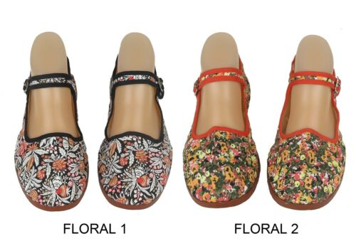 Women/'s Chinese Mary Jane Floral Print Cotton Shoes Slippers Sizes 6-10 New