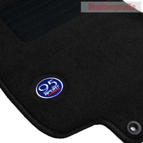 10//1998-12//2009 4-tlg. MP Velours Logo Fußmatten für Saab 9-5 Kombi ab Bj
