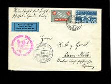 Zeppelin Sieger 427 1936 Olympic Flight Switzerland treaty dispatch SLH ZF242