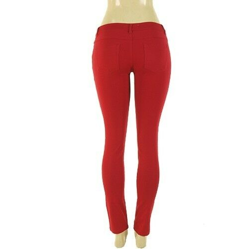 LOT NEW SKINNY PANTS Ponte Knit Slim Fit Stretch JEGGINGS TROUSERS Colors S M L