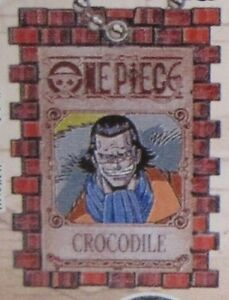 One Piece Crocodile Wanted Poster Key Chain Anime NEW