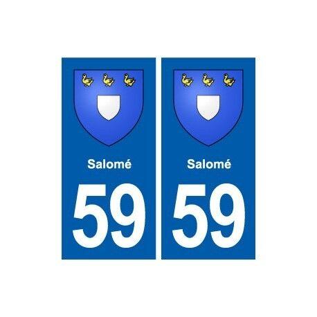 59Salomé blason autocollant plaque stickers ville droits
