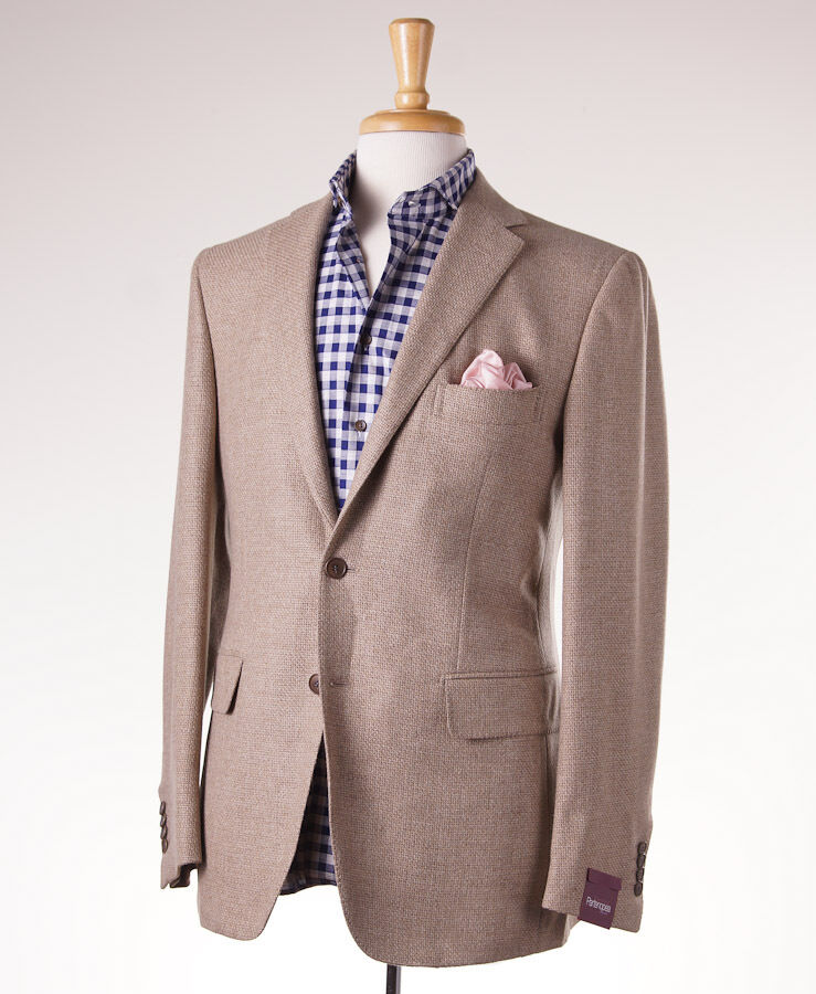NWT 2995 SARTORIA PARTENOPEA Oatmeal Tan Wool-Cashmere Sport Coat US 40 R